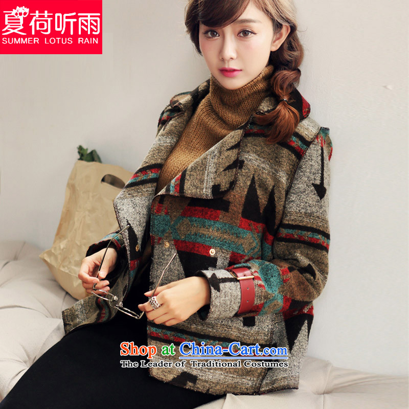 The new 2015 autumn and winter version A loose coat female Gross Gross?? coats women han bum-suit tartan shirt sub cardigan 1081 Figure Color S