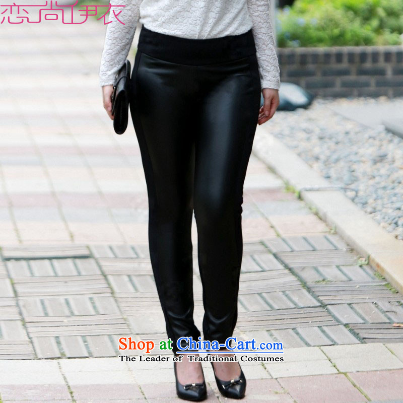 2015 Fall_Winter Collections of new products thick sister to increase pencil trousers code castor trousers video thin leather pants thick black trousers, forming the handsome skirt pencil�L black trousers 2 ft 8