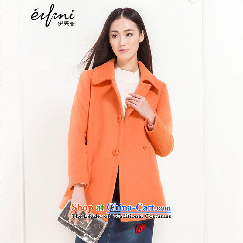 El Boothroyd 2015 winter clothing new liberal larger lapel woolen coat female 6580947148 BISQUE聽S