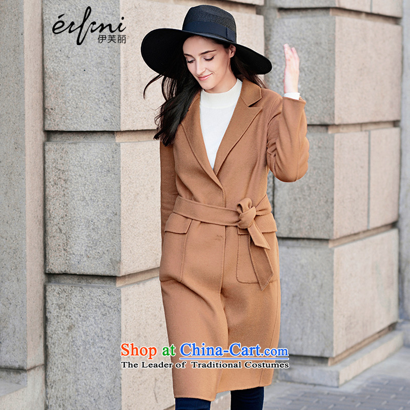 El Boothroyd 2015 winter clothing new lapel long wool double-side coats and color S female 6581017024