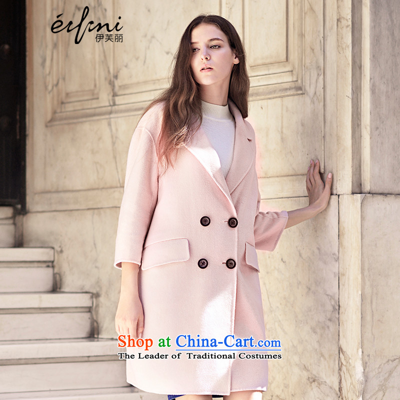 El Boothroyd 2015 winter clothing new double-side coats, double-wool coat female 6581017026? pink M