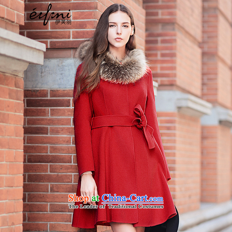 Of the 2015 winter clothing new Lai gross jacket double-side sheep? coats jacket 6581017034 gross? The Red?S