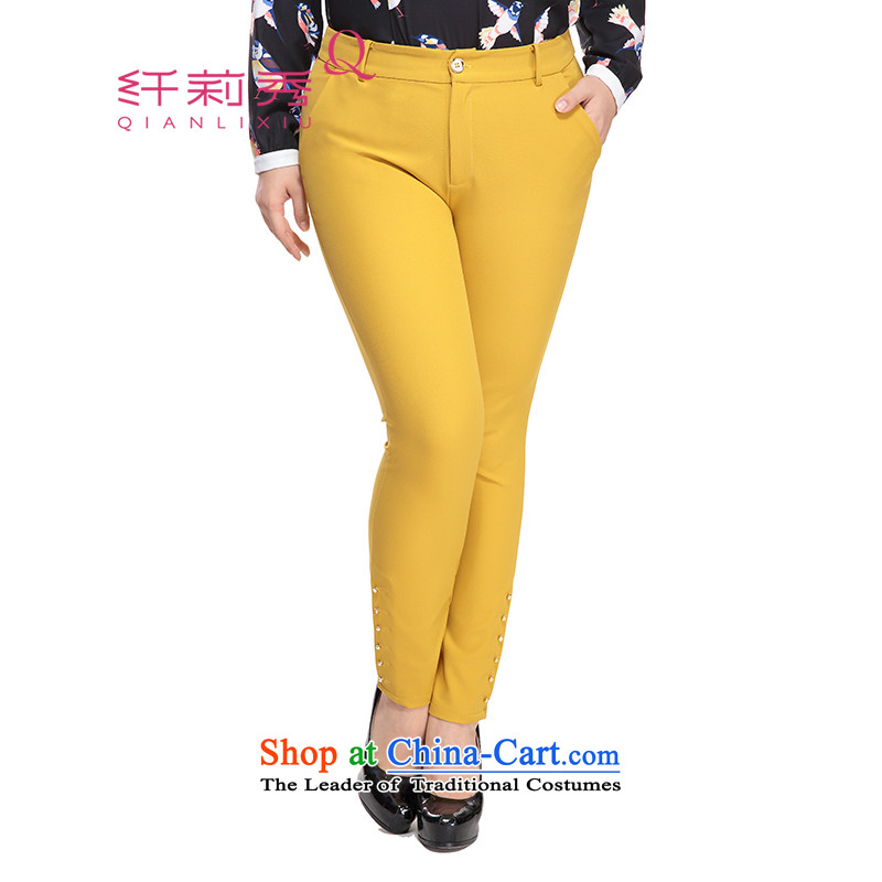 The former Yugoslavia Li Sau 2015 autumn large new mount female elastic waist gold coin in comfortable video thin wild trousers 0769 aged Wong 32