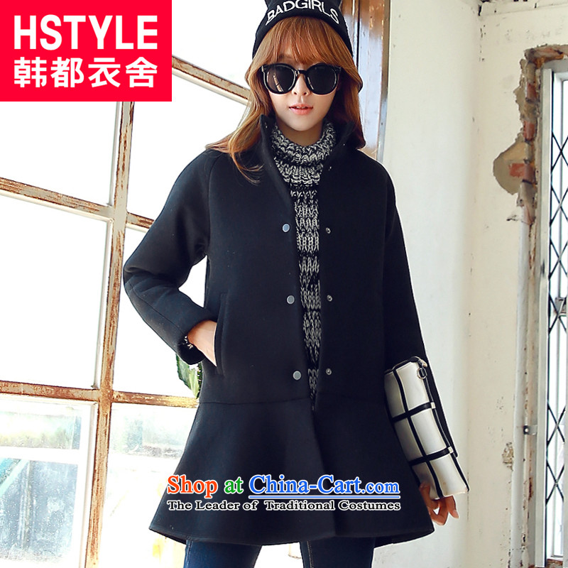 Korea has the Korean version of the Dag Hammarskjöld yi 2015 winter clothing decorated new women's body in a thin long graphics gross RW5400 jacket? restaurant black S