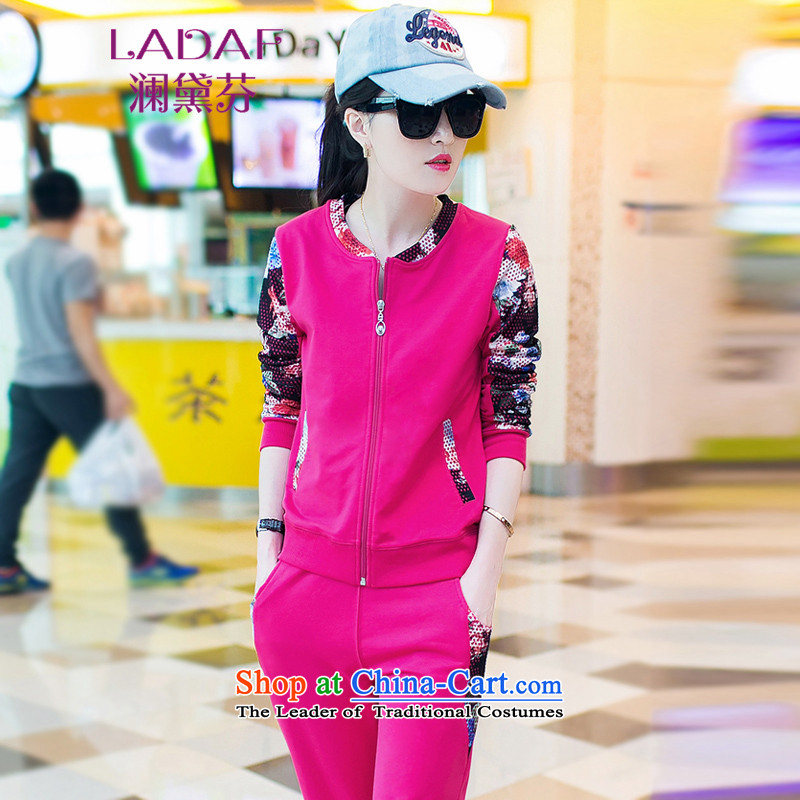 The World 2015 Autumn Fen Doi load new leisure long-sleeved blouses and two kits sweater, sportswear, 882 in the Red M