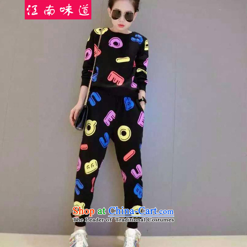 Gangnam-gu? 2015 Fall/Winter Collections taste for larger female western MM200 thick catty sports and leisure plus fertilizer David Yi Kit women and two black?XXL recommendations 120-140 catty