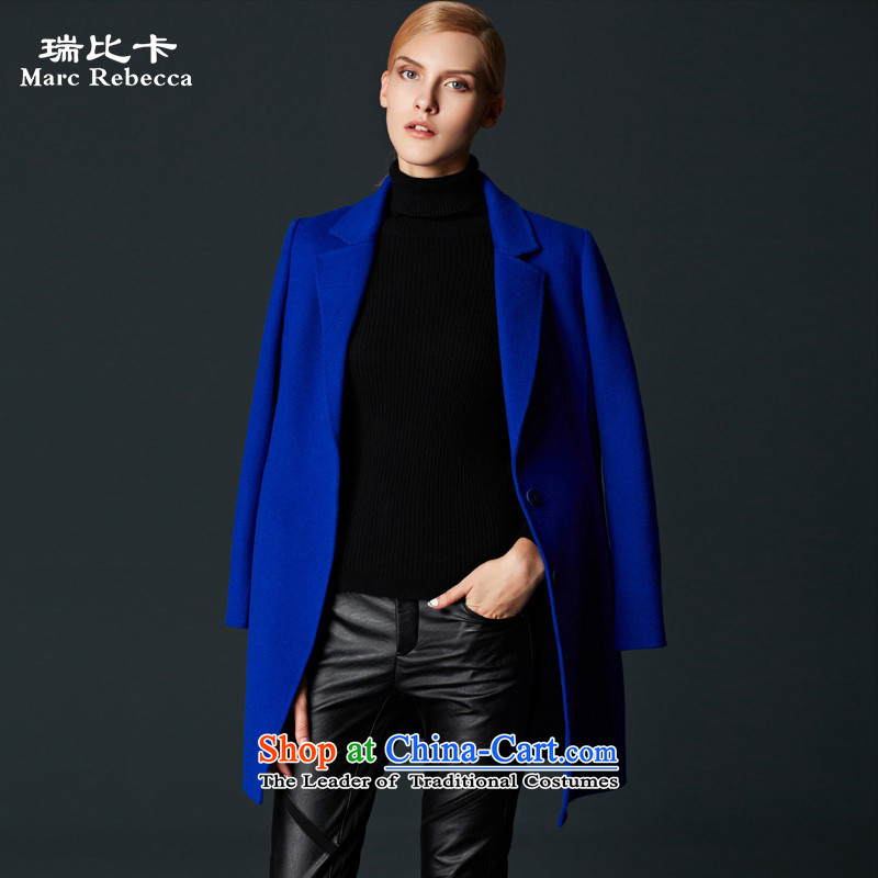 Labortex card brands? 2015 autumn and winter coats new OL van manual two-sided wool overcoats female Po? blue XL