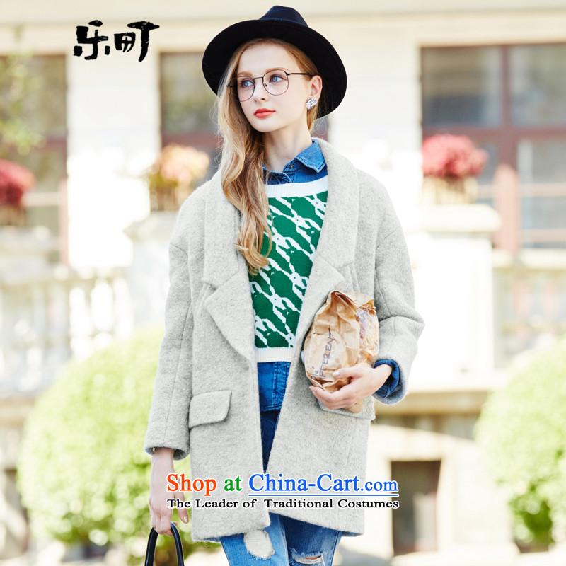 Lok-machi 2015 winter clothing new gross girls jacket? long hair loose coat? wild Korean autumn and winter clothesS_155 Gray