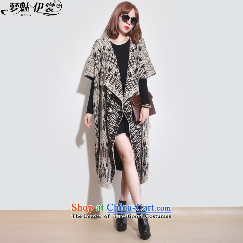 The staff of the Advisory Committee this autumn and winter load to increase women's code thick mm thick and long, loose cuff knitwear sweater in cardigan jacket apricot color will loose