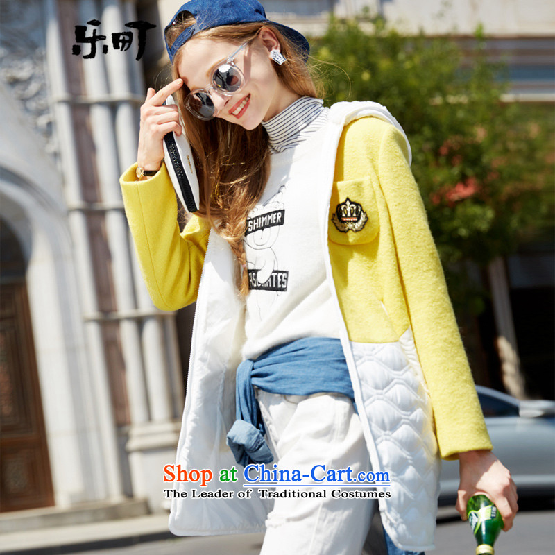 Lok-machi 2015 Autumn new gross jacket in long?)? terminals cotton coat services and baseball winter clothes S/155 yellow