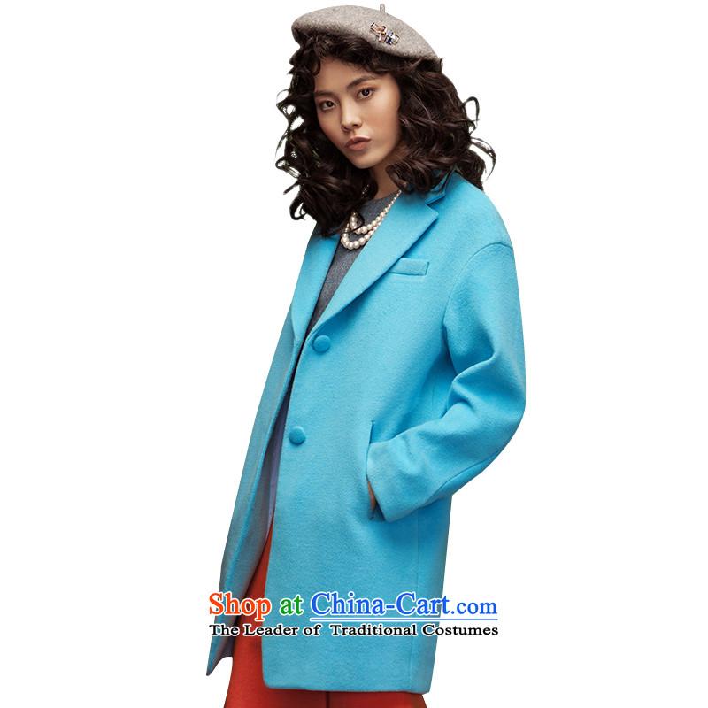 The Goddess of Mercy with new Yoon Athena Cayman minimalist pure color long coats_?? coats 8533210609 Lake blueS