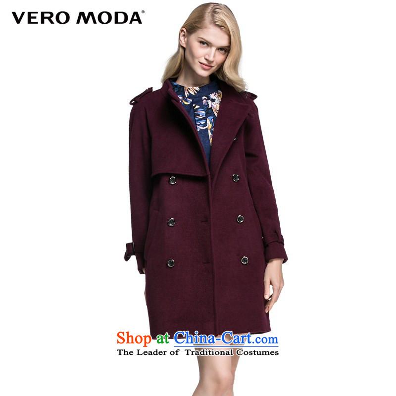 Vero moda solid color fabric crisp, double-door chancing long straight hair, a cloak |315327016? 092�0_80A_S Deep Violet