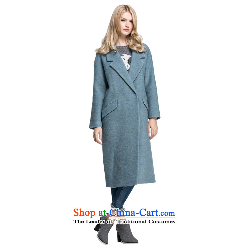 Moda vero England wind minimalist balangjie-pure color knots flap leisure long hair loose coat |315427003? 042 gray and green 155_76A_XS