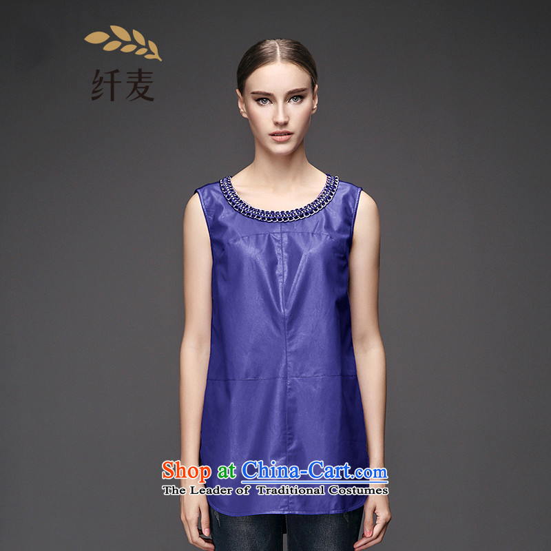 The former Yugoslavia Migdal Code women 2015 Autumn replacing the new fat mm fashionable individual half chain vest?953031081?blue?2XL