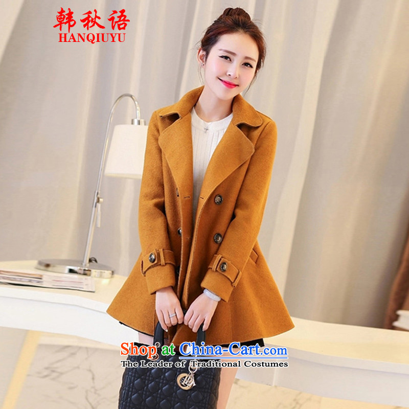 The Korean autumn 2015 fall for the new language, the Korean version of the temperament thick a wool coat jacket in gross? Long Large and color燣 HQY1886