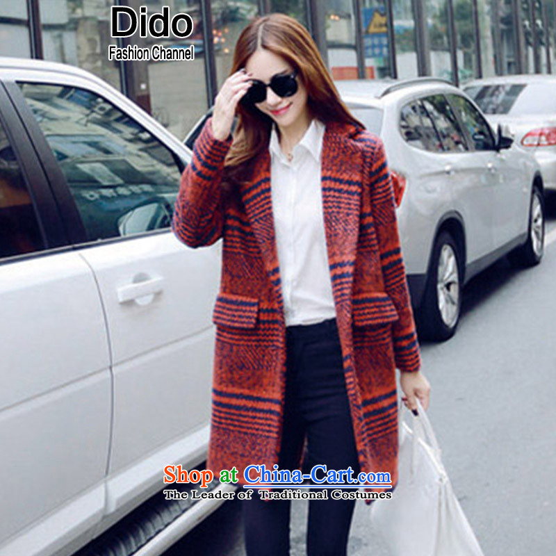 Dido Jacket coat? female gross Korean version of large thick female tartan coats female red s L