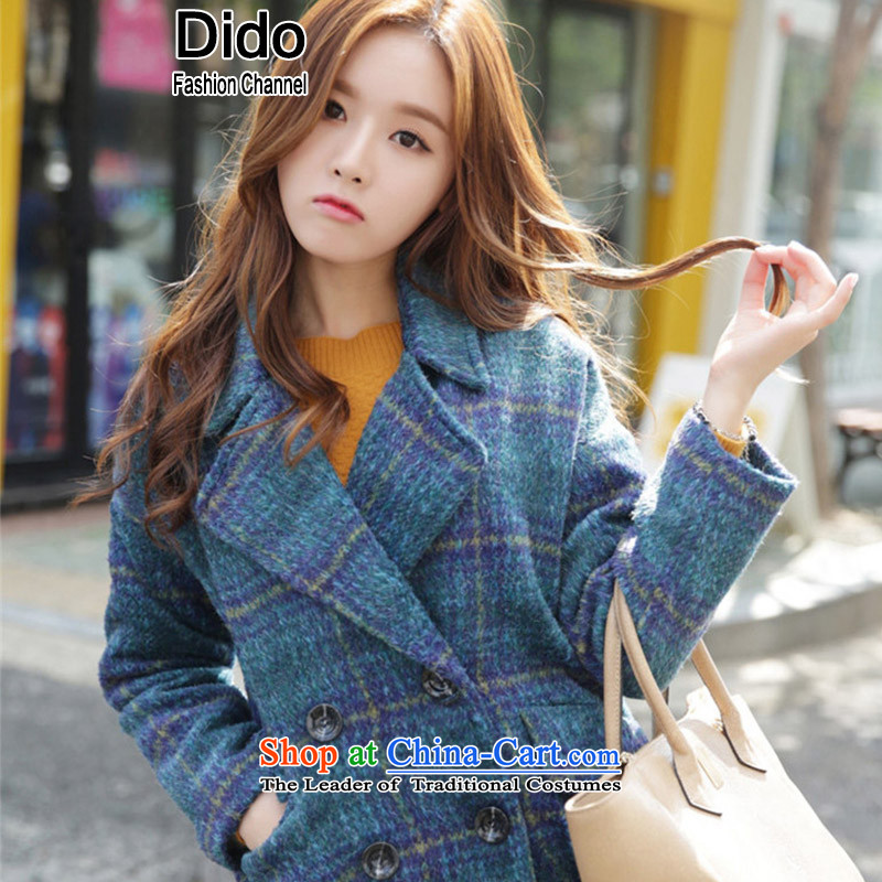 Dido gross? Korean girl jacket coat short of larger female plaid thick coat female picture color. M