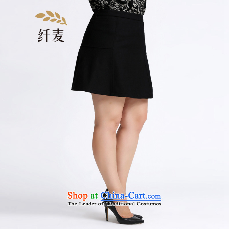 The former Yugoslavia Mak Yugoslavia Migdal Code women 2015 winter clothing new stylish mm thick solid color type A wild short skirts 953252125�L black