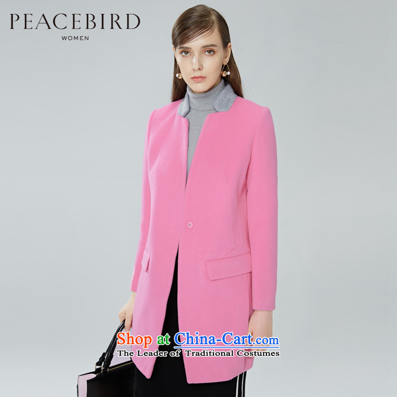 - New shining peacebird Women's Health 2015 new products for winter coats A4AA54311 spell color? pink S
