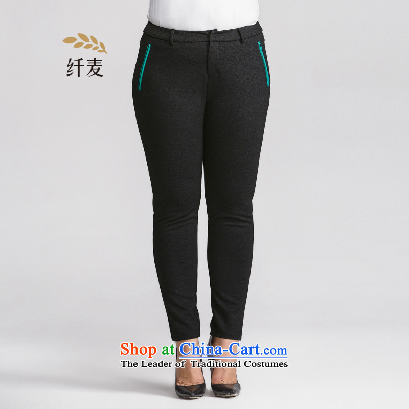 The former Yugoslavia mecca for larger women 2015 winter clothing new stylish mm thick knocked the ribbon pocket casual pants9530915895XL black