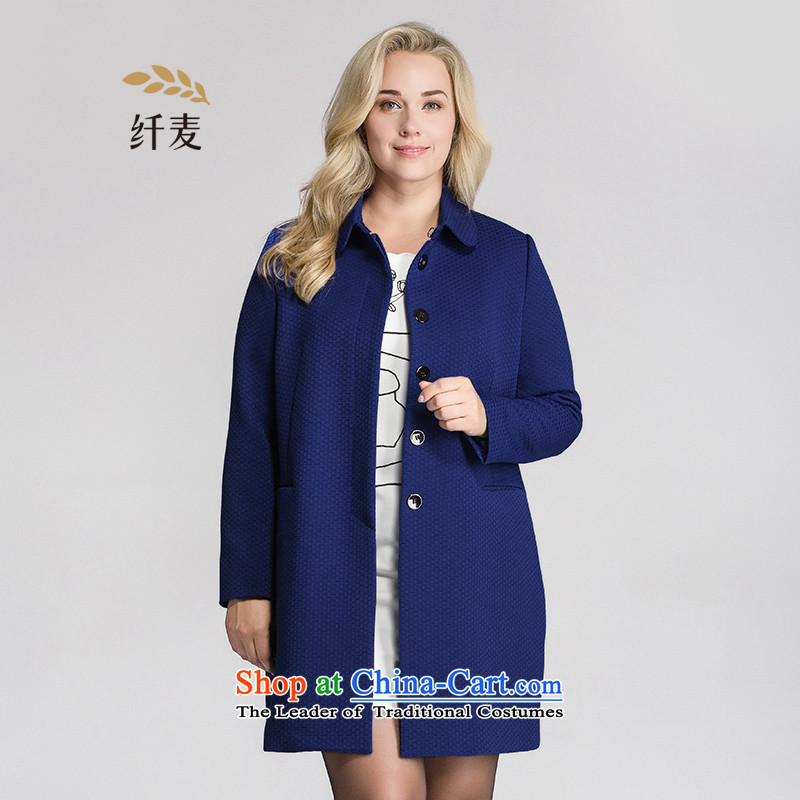 The former Yugoslavia mecca for larger women 2015 Autumn New_ thick mm stylish cardigan long jacket, female�3041390爌re-sale 12.12 blue shipment�L
