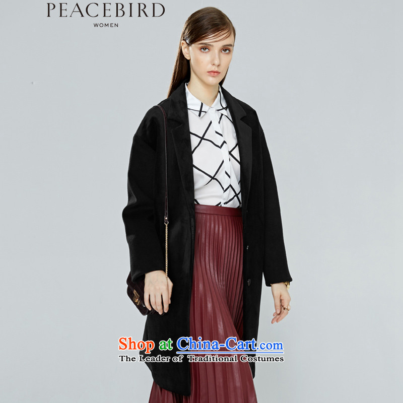 - New shining peacebird Women's Health 2015 winter clothing new products are direct A4AA54322 coats black S