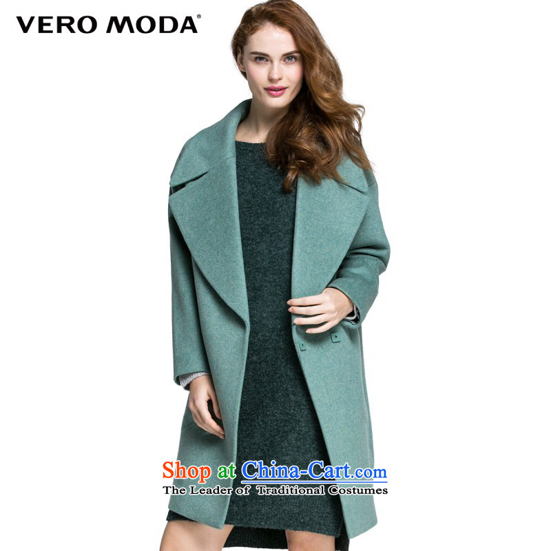 Vero moda solid color large roll collar shape the auricle |315427008 gross? coats 042 gray and green 160_80A_S