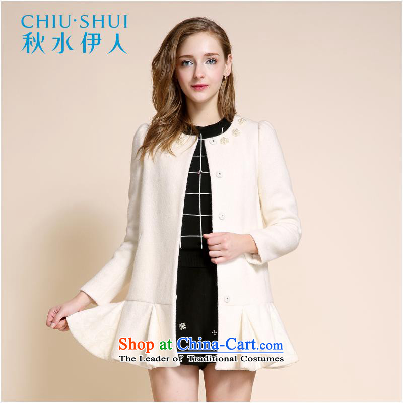 Chaplain who 2015 winter clothing new women's sweet romantic lace splicing pin bead knitting gross? This overcoat160_84A_M