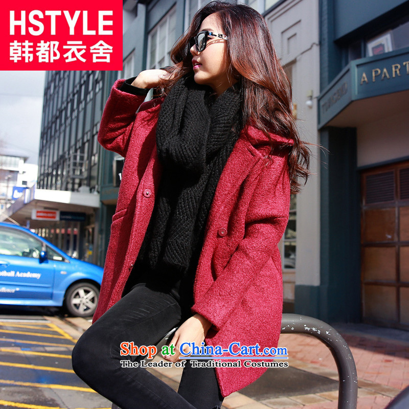 Korea has the Korean version of the Dag Hammarskjöld yi 2015 winter clothing new products with stylish youth loose video thin solid color jacket JN4498 gross? Restaurant Red L
