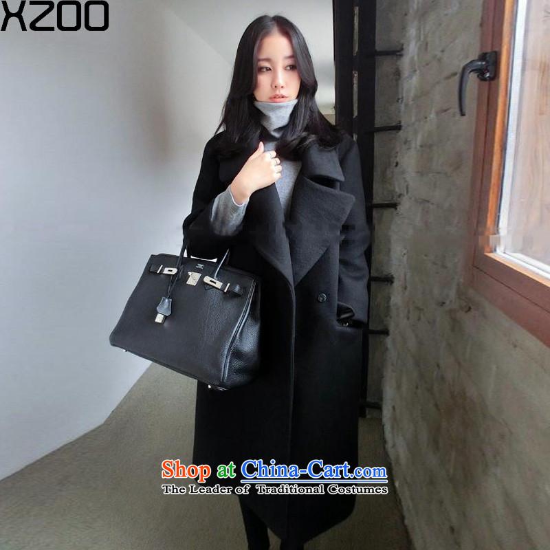 Gross coats women XZOO2015? winter new women in Korean Long Hair Girl picture color jacket?S