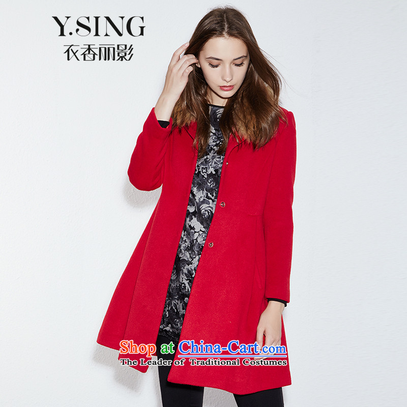 Hong Lai Ying 2015 winter clothing new Korean citizenry elegant for gross long solid color jacket female Red Hair? _11 L