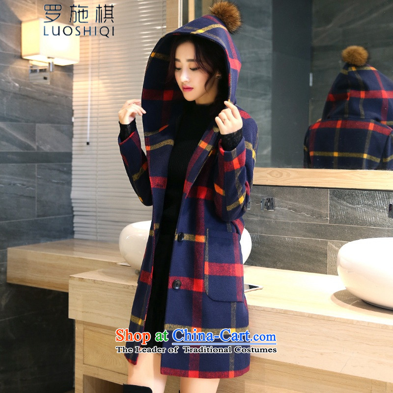 Roosch chess 2015 autumn and winter new Korean female aristocratic temperament feminine pure color wild beauty plus extra thick coat gross is velvet jacket coat female red yellow thick M
