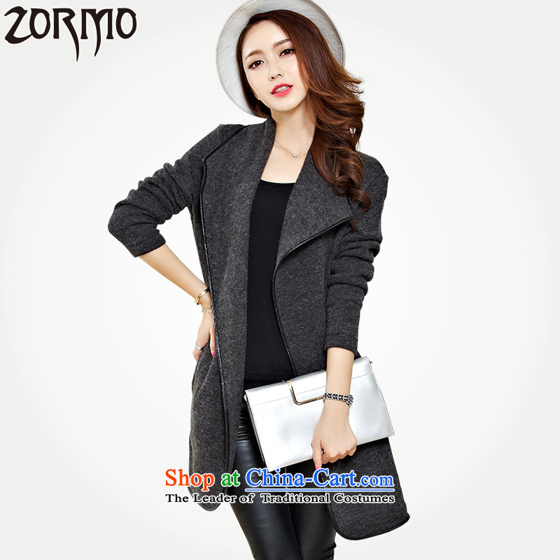 Zormo 2015 autumn and winter to xl mantle winterizing mm thick hair? Cardigan?5XL gray jacket