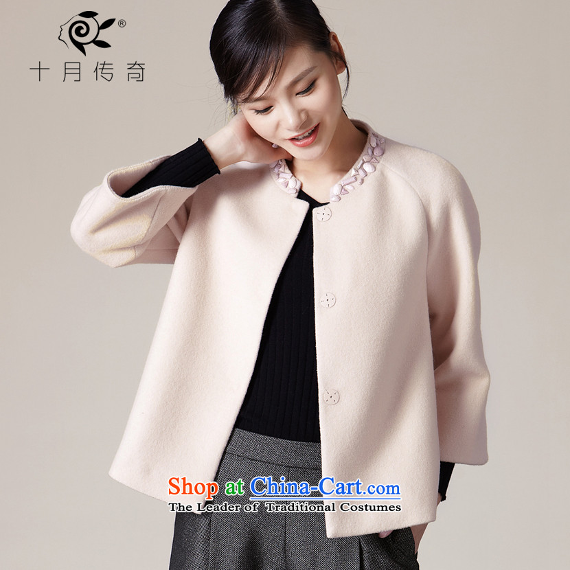 October 2015 autumn and winter legendary new products?_A_ short hair type Spike beads small collar jacket SSW505718 toner apricot?160_M