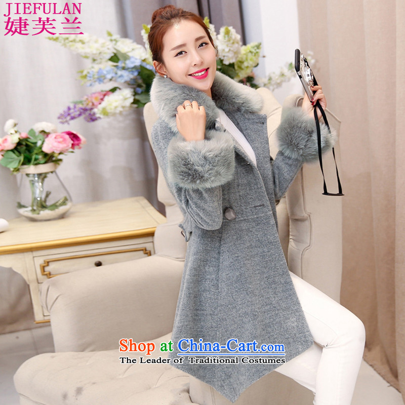 Estimated 2015 autumn to involve new for women in the new long winter of 5342 Women's jacket coat? M Gray