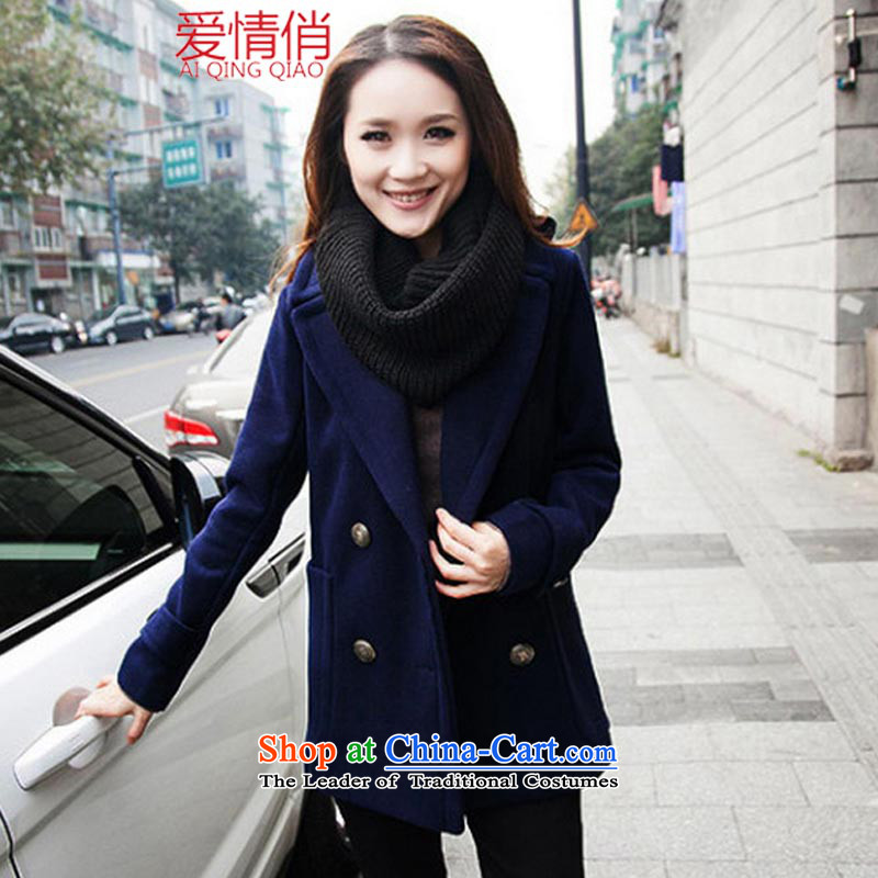 Love Is 2015 to increase the number of women with thick winter clothing. Fatsos video mm thin hair? large jacket a wool coat 931 large dark blue XXXXXL