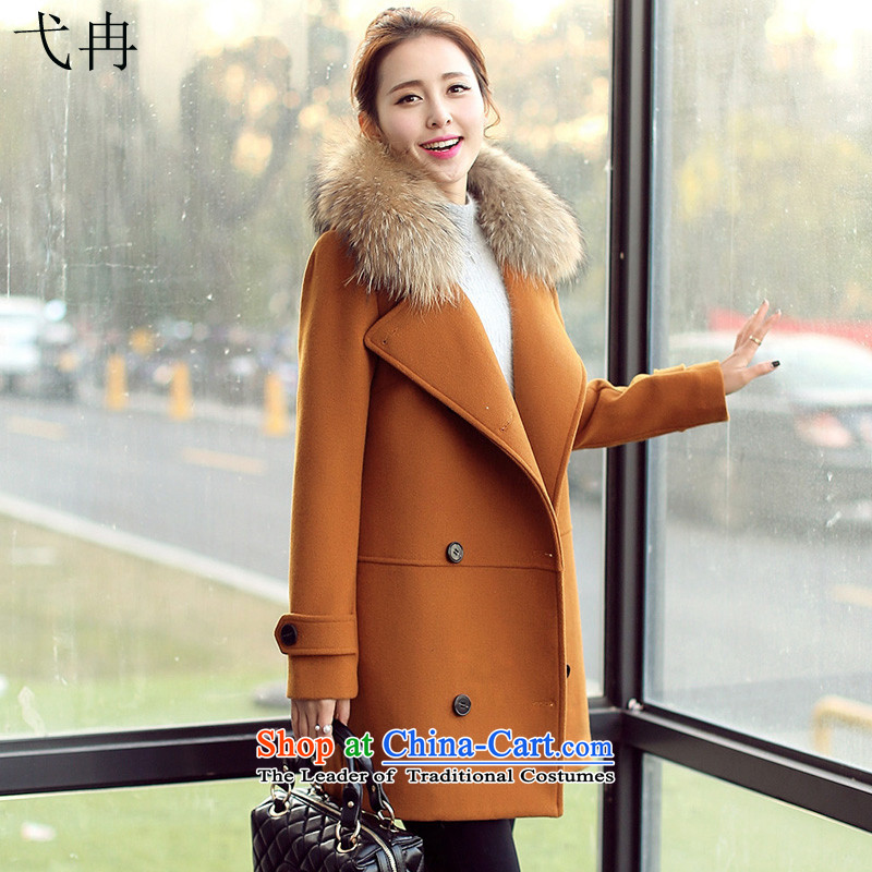 Cruise in the Advanced? autumn and winter coats women 2015 new for women fall, Korean video in thin long Sau San gross Y241 female jacket coat? Kim and color L (thick)