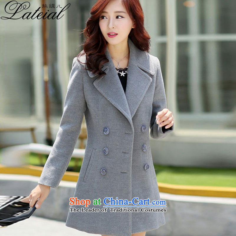 Pull economy-聽2015 autumn and winter new women's winter coats female hair_?? Korean Sau San video jacket in thin long jacket,聽gray zp9957聽2XL