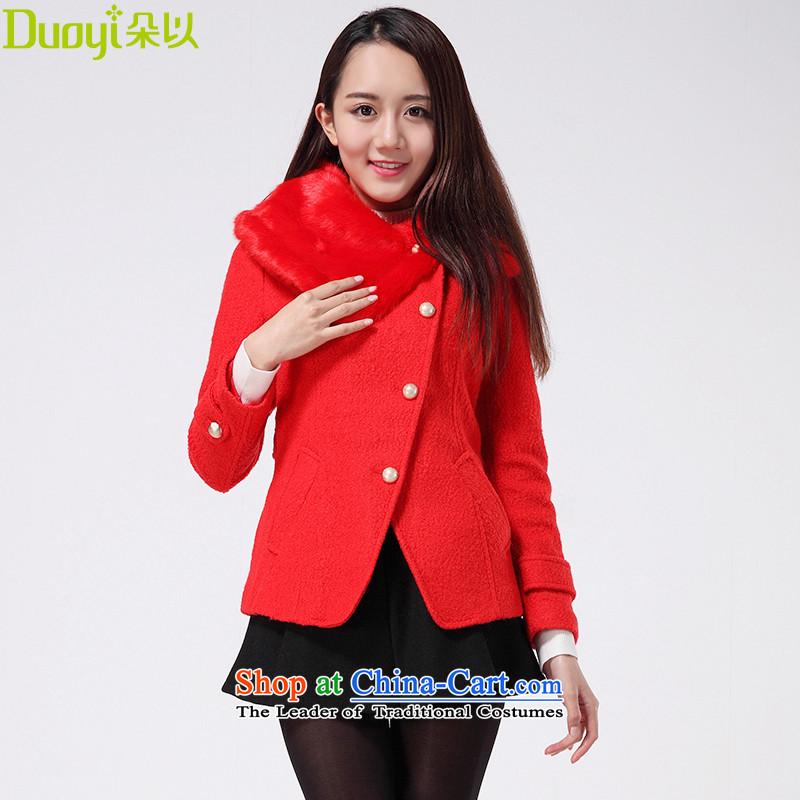 Flower In winter the new Korean short of Sau San women temperament jacket for Gross Gross 29DD42946 chinese red cloak?燬