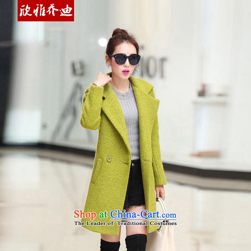 Yan Nga Jodie autumn 2015 New Women's jacket Korean Beauty??. Made from long coats stylish gross jacket female greenXXL?