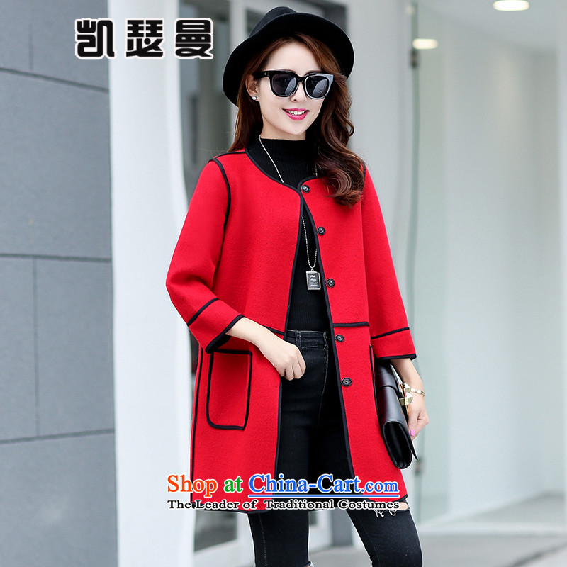 Catherine Cayman2015 Fall_Winter Collections Gross Korean female jacket is straight in long hair? female 1207 red cloakL