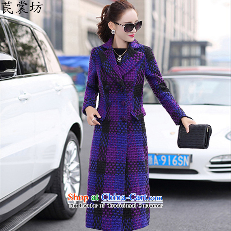 The Advisory Committee Workshop 2015 act out their perversions with impunity the Korean version of the new Fall_Winter Collections foutune temperament female in the body of the decoration gross jacket coat female purple? L