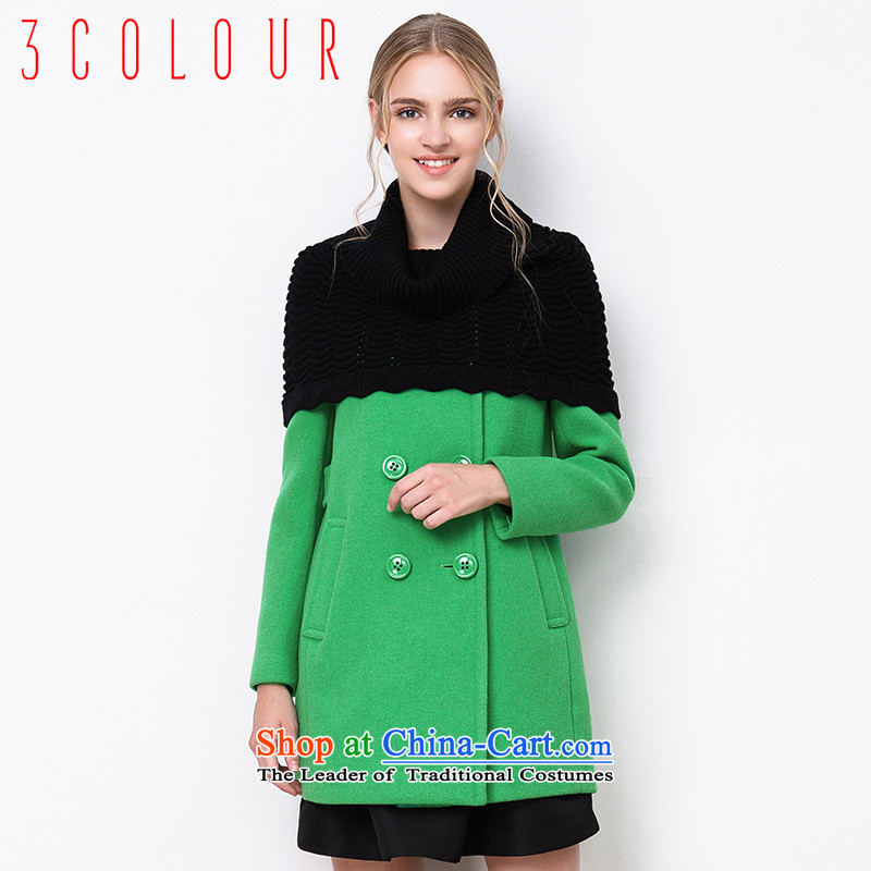 2015 winter clothing new pure colors in Europe and the long hairs? a jacket coat grants female green 160/84A/M S440722D11