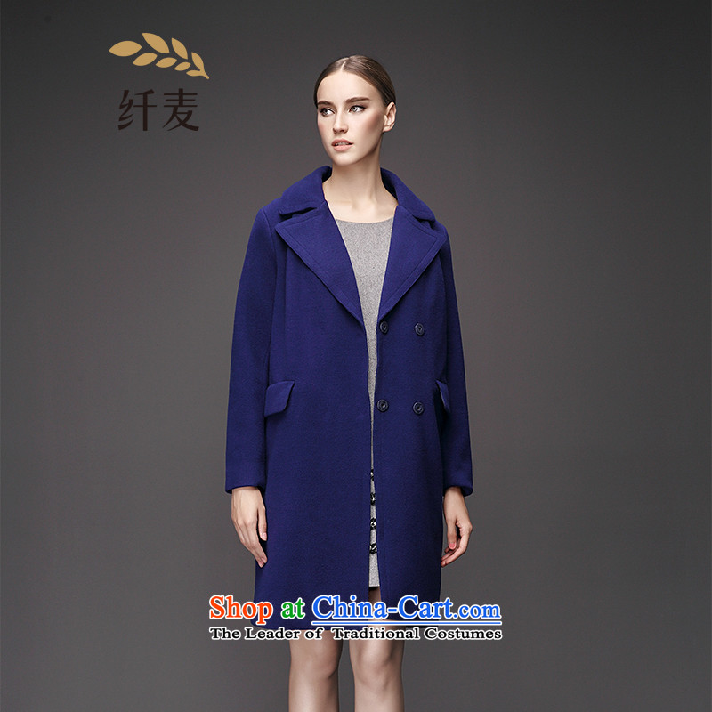 The former Yugoslavia Migdal Code women 2015 Autumn replacing the new mm thick solid-colored collars in long hair?953181142blue6XL Jacket