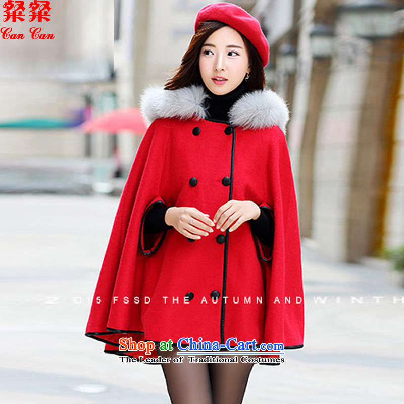 Calls upon the new boxed autumn 2015 Cashmere wool coat Korean women?   in women's winter long coats rocketed to gross?燲XL