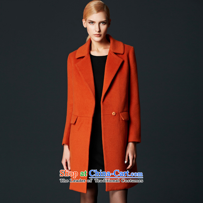 Labortex card commuter OL van high-end wool overcoats female orange?燲L