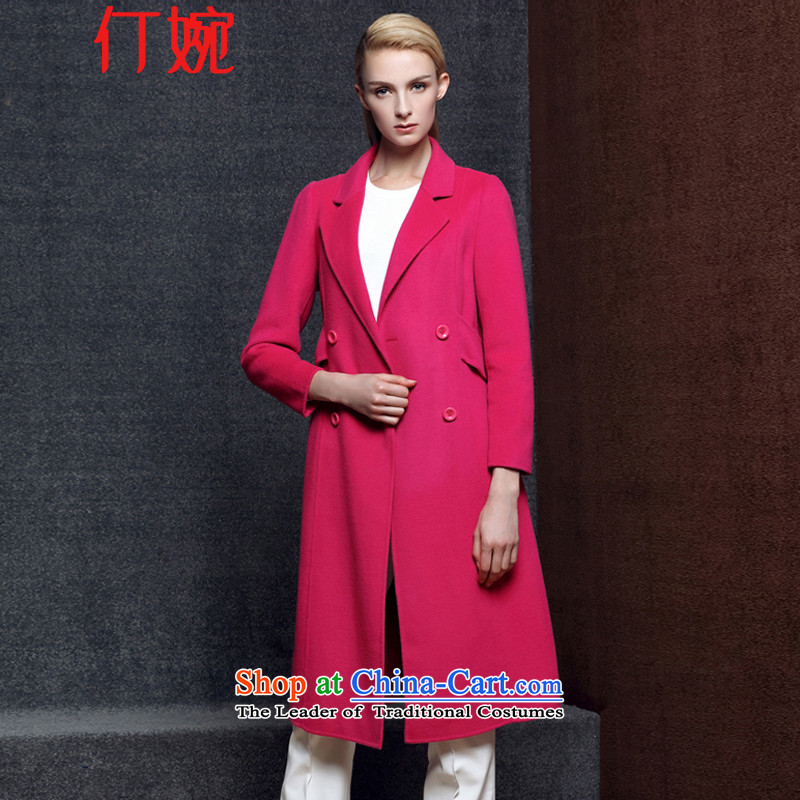 The suspension of the autumn and winter 2015 Yuen new Korean girl in Sau San cashmere overcoat long woolen coat duplex gross jacket coat? 5 086 female in the red燣