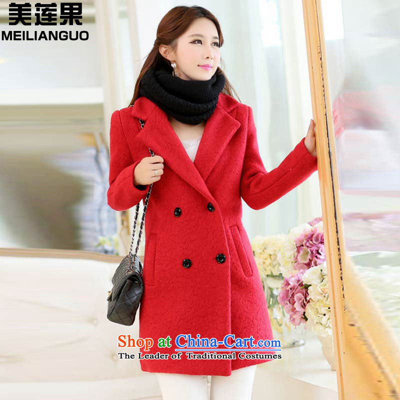 The United States and Korea Edition version of 2015, Li dongqiu new gross Connie terminal in the jacket? long coats 2,810 female RED燤