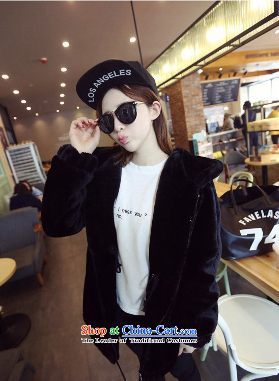 2015 Autumn winter new Korean version of large numbers of ladies thick MM loose, Hin thin, thick cotton coat cardigan thick Korean thick fluffy in sister long cotton jacket BlackXL Photo, prices, brand platters! The elections are supplied in the national character of distribution, so action, buy now enjoy more preferential! As soon as possible.