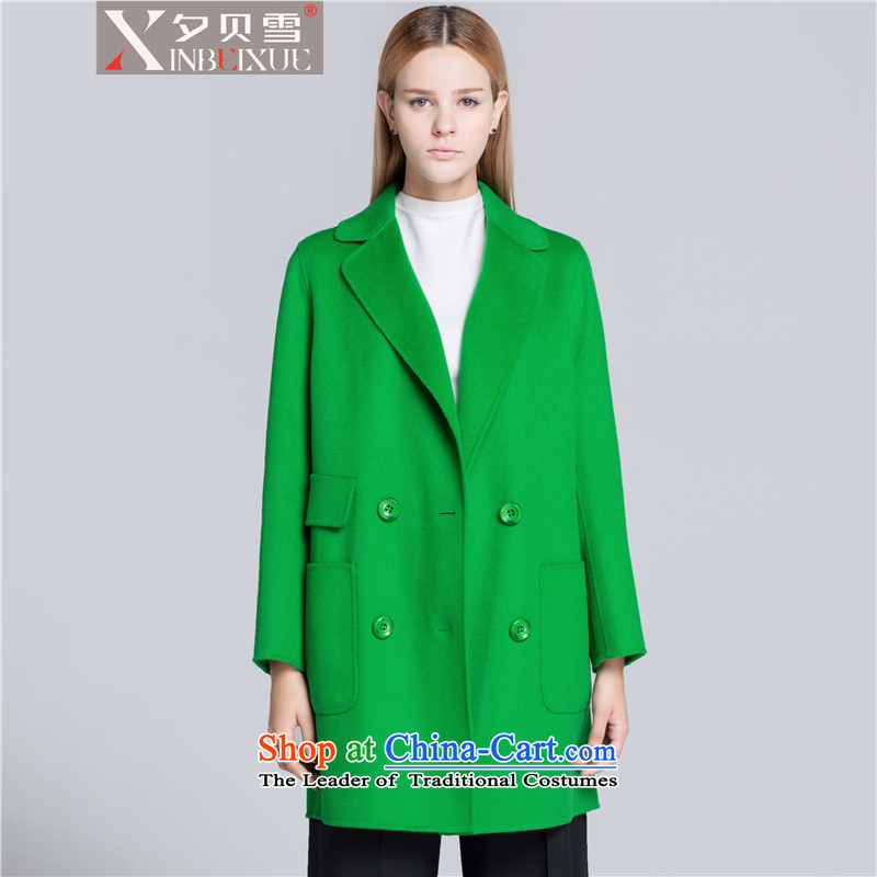 Overnight snow fall and winter 2015 Addis Ababa new high-end classic plain manual two-sided cashmere cloak? female gross. Ms. long wool coat female crouched燤?